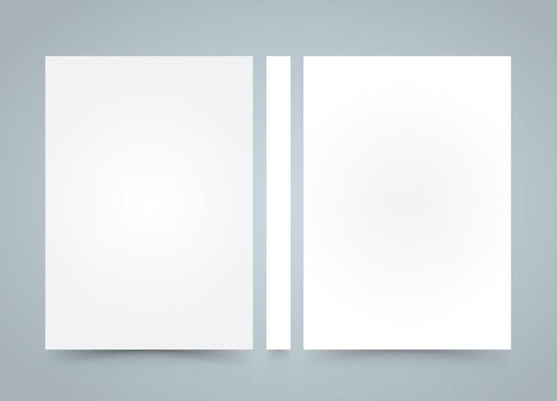 플라이어 빈 배너 책입니다. a4 크기 용지, 템플릿 디자인 요소, 벡터 배경