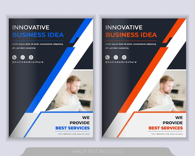 Flyer layout template. annual report, brochure cover presentation template