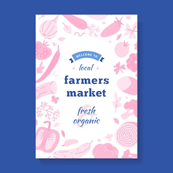 Flyer for local farmers market,  template