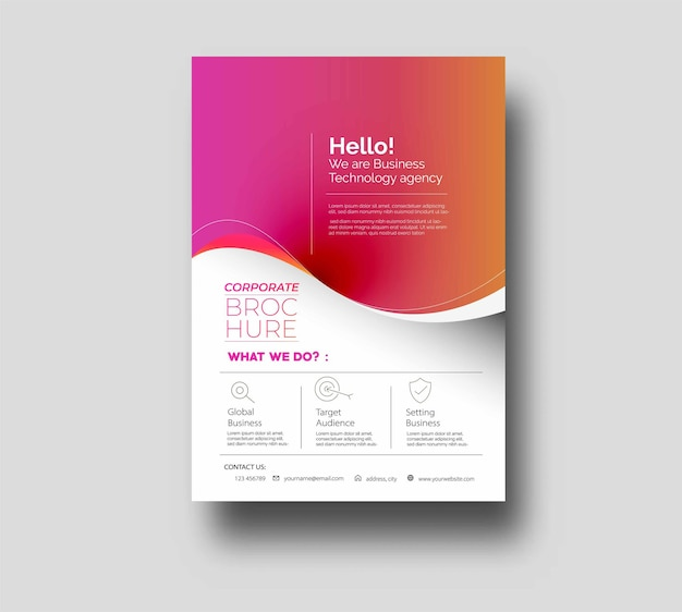 Flyer poster cover design in a4 size template illustration