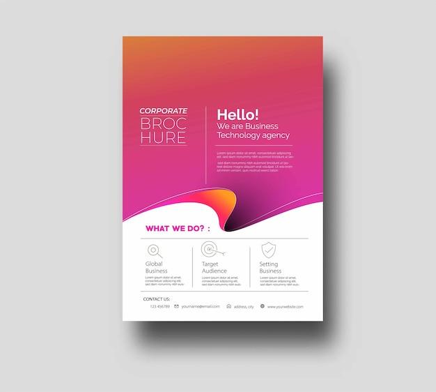 Дизайн обложки плаката флаера в шаблоне размера a4