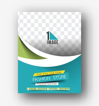 Flyer, poster & magazine design layout template in a4 size vector