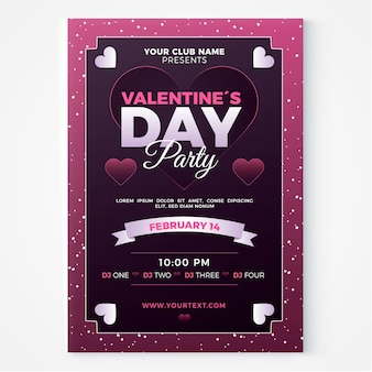 Flyer/poster template for valentines day party