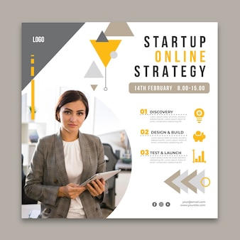 Flyer square template for general business
