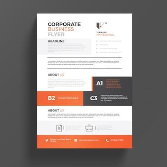 Корпоративный flyer tempalte
