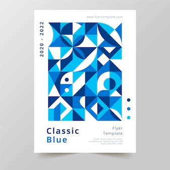 Flyer template for abstract geometric shapes design