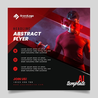 Flyer template abstract style