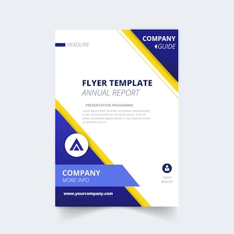 Flyer template for annual report