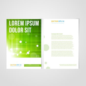 Flyer template back and front design.