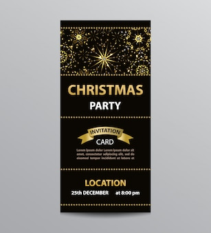 Flyer template for christmas party