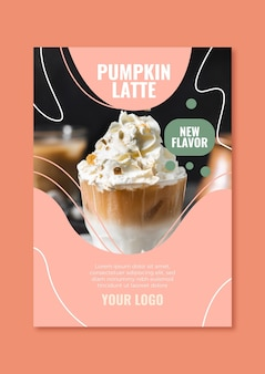 Flyer template for coffee shop