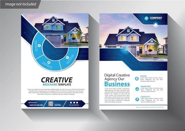Flyer template for company presentation