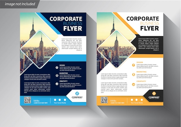 Flyer template for cover brochure annual report company