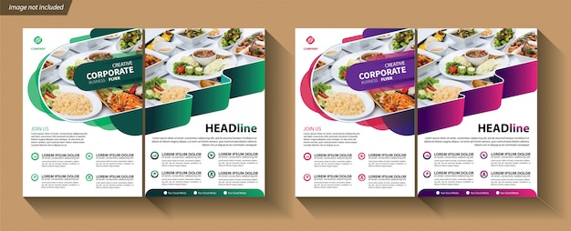 Flyer template for cover brochure corporate