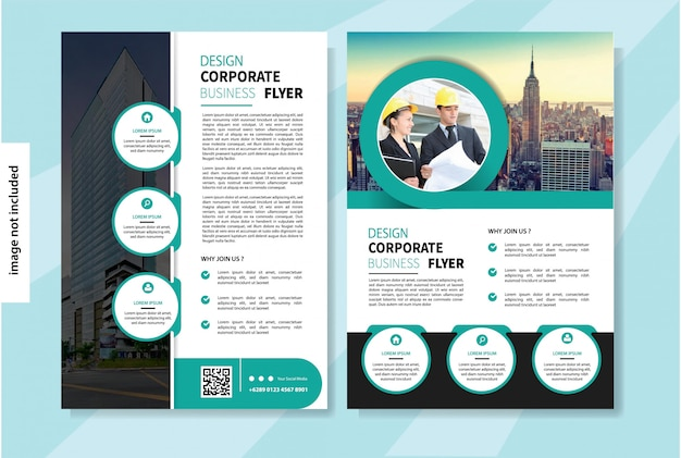 Flyer template for cover layout brochure or annual report