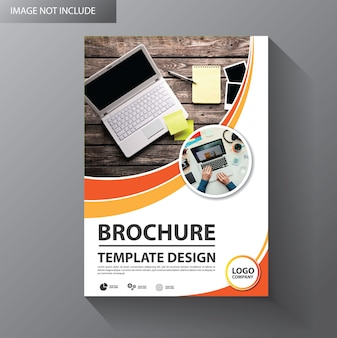 Flyer template design for cover brochure