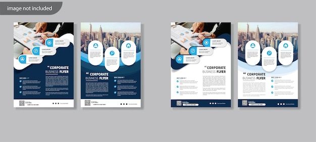 Дизайн шаблона флаера для обложки годового отчета