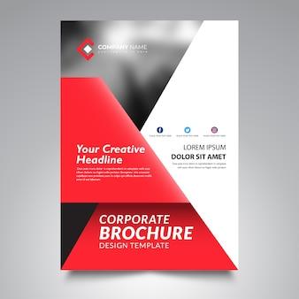 Flyer template design, modern flyer template design