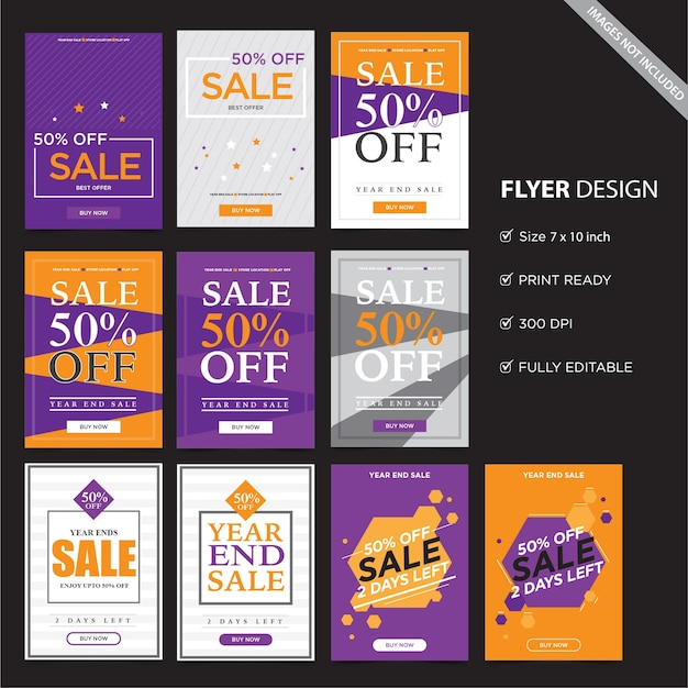 Flyer template design.