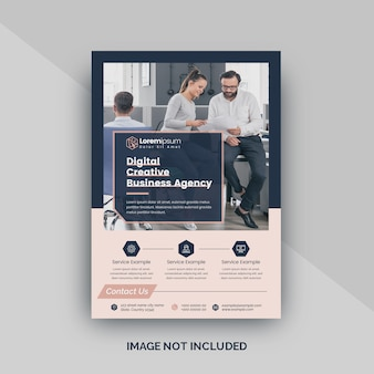 Flyer template for digital agency