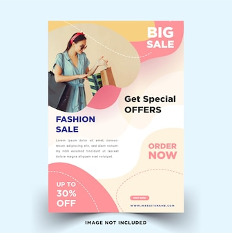 Flyer template for fashion sale with a minimalist design