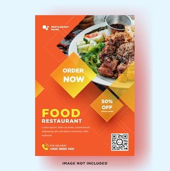 Flyer template food restaurant