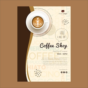 コーヒーショップのチラシテンプレート
