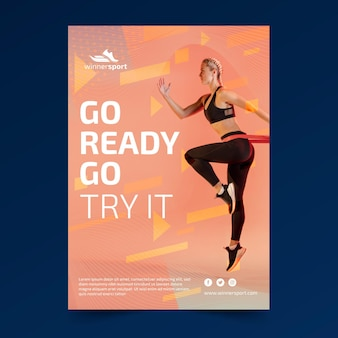 Flyer template for gym fitness