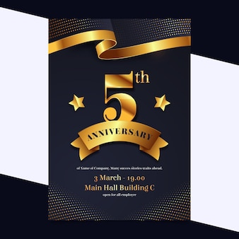 Flyer template for investment aniversary