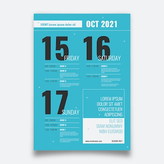 Flyer template programming event