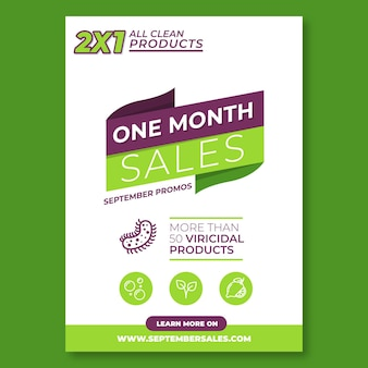 Flyer template for sales