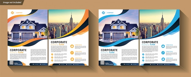 Flyer template set