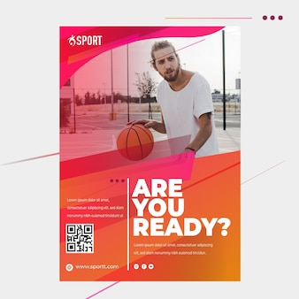 Flyer template for sports activity