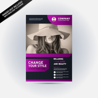 Flyer template with fashion concept