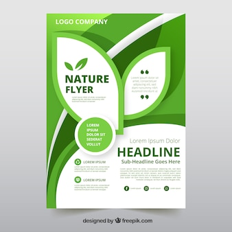 Flyer template with nature information