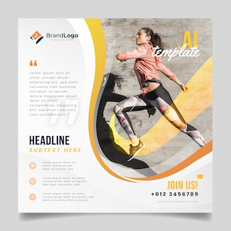 Flyer template with runner