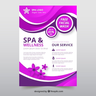 Flyer template with spa information