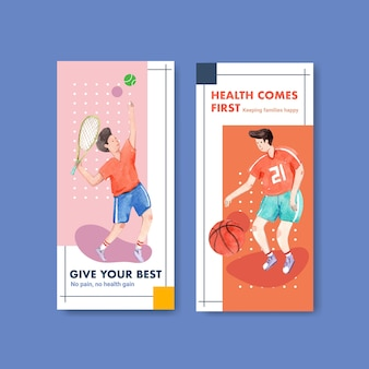 Flyer template with world mental health day concept design