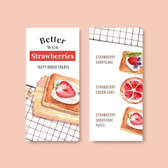 Flyer templates for bakery sales