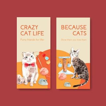 Шаблоны флаеров с милыми кошками