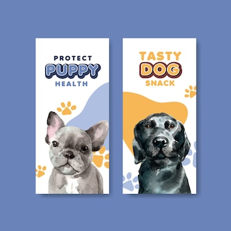 Flyer templates with dogs