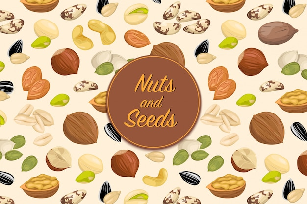 Flyer with nuts and seeds