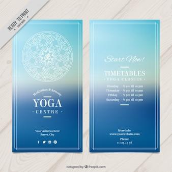 Синий йога flyer