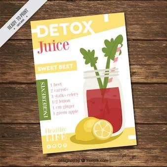 Flyer со здоровым рецептом сока