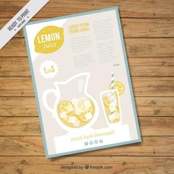 Flyer вкусный лимонад