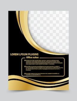 Дизайн шаблона шаблона брошюра flyer для вашего бизнеса. векторный фон