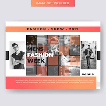 Мода горизонтальный бизнес flyer шаблон
