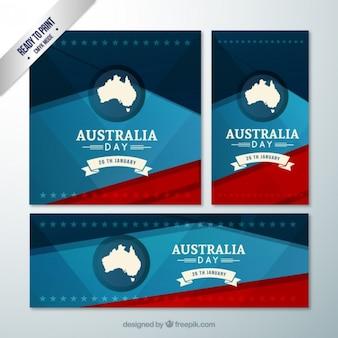 Volantini e bandiera australia day pacchetto