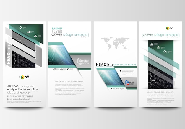 Flyers set, modern banners. business templates. cover design template, easy editable vector layouts.