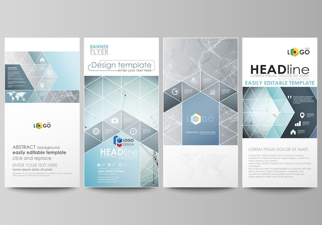 Flyers set, modern banners. cover design template, abstract vector layouts.